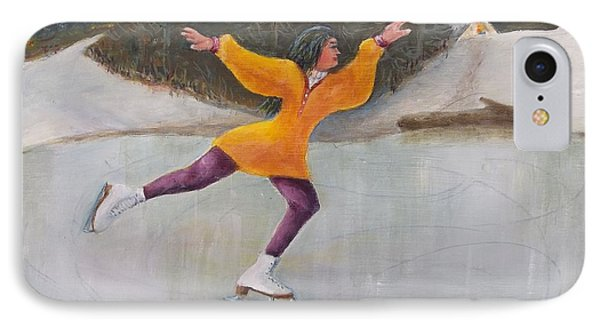 Morning Ice Skater IPhone Case