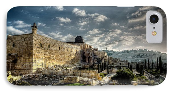 Morning In Jerusalem Hdr IPhone Case by David Morefield