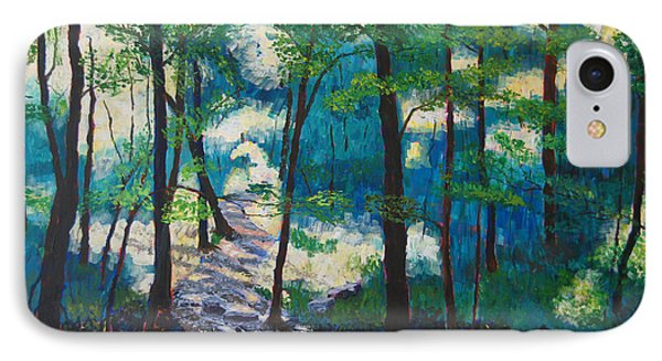 Morning Sunshine In Park Forest IPhone Case by Arthur Witulski