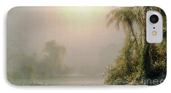 Morning In The Tropics IPhone Case by Frederic Edwin Church