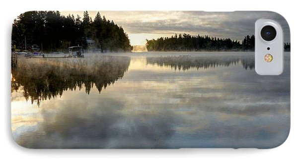 Morning Lake Reflection IPhone Case by Peter Mooyman