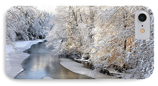 Morning Light Fresh Snowfall Gauley River IPhone Case by Thomas R Fletcher