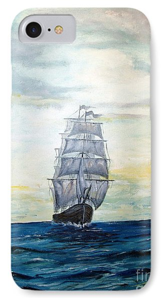 IPhone Case featuring the painting Morning Light On The Atlantic by Lee Piper