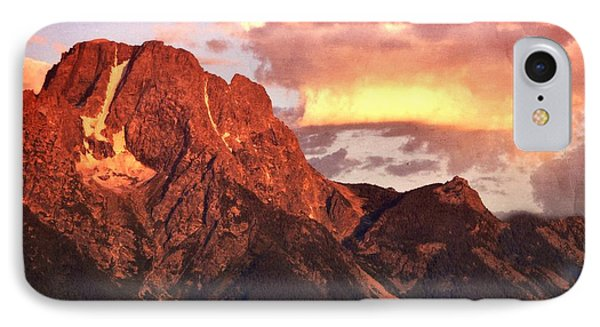 Morning Light On The Tetons Phone Case by Marty Koch