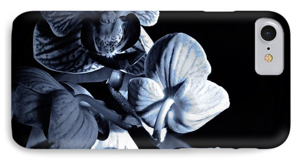 Morning Light Orchids Cyan IPhone Case