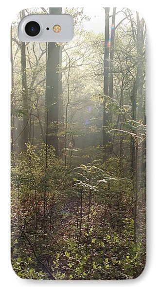 Morning Mist In The Forest Phone Case by Bill Cannon