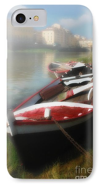 Morning Mist On The Arno River Italy Phone Case by Mike Nellums
