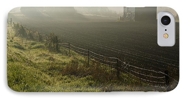 Morning Mist Over Field And Phone Case by Jim Craigmyle