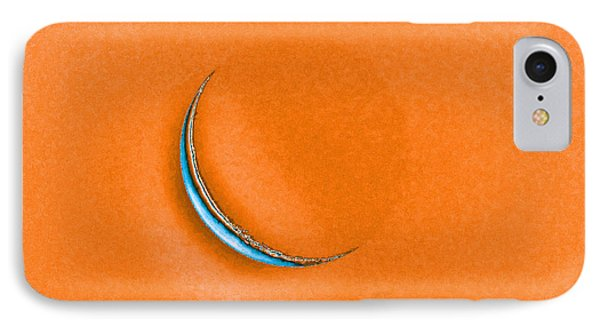 Morning Moon Orange Phone Case by Al Powell Photography USA