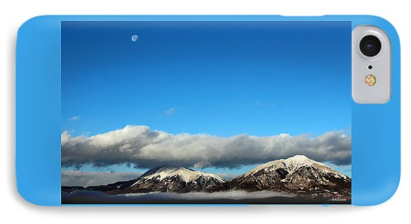 IPhone Case featuring the photograph Morning Moon Over Spanish Peaks by Barbara Chichester