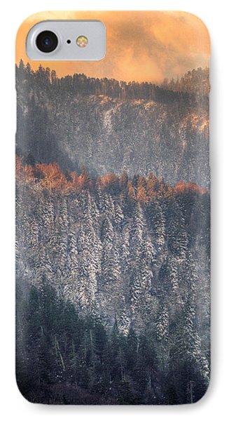 Morning Mountains II IPhone Case by Rebecca Hiatt