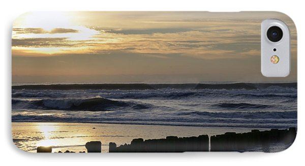 Morning Ocean Rockaway Beach 3 IPhone Case by Maureen E Ritter