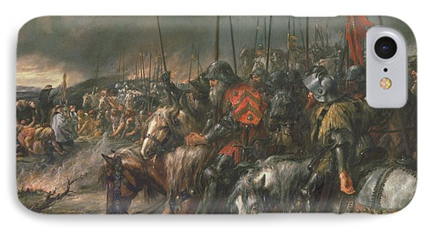 Morning Of The Battle Of Agincourt, 25th October 1415, 1884 Oil On Canvas IPhone Case by Sir John Gilbert