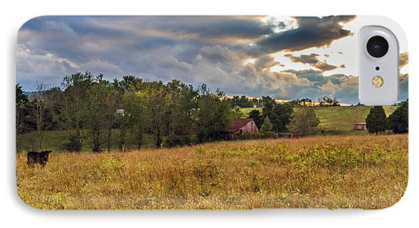 Morning On The Farm One IPhone Case by Ken Frischkorn