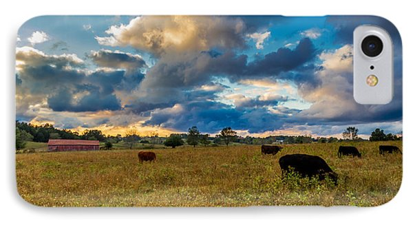Morning On The Farm Two IPhone Case by Ken Frischkorn