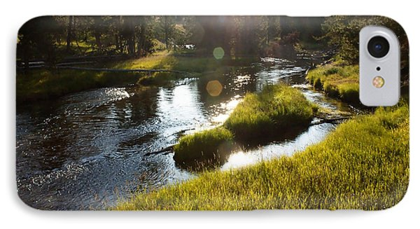Morning On The Firehole IPhone Case