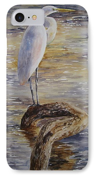 Morning Perch-egret IPhone Case