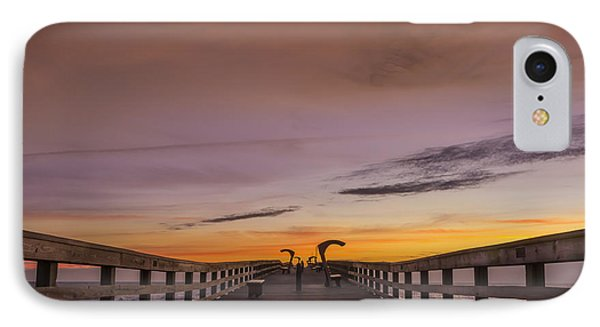 Morning Pier Deck IPhone Case by Marvin Spates