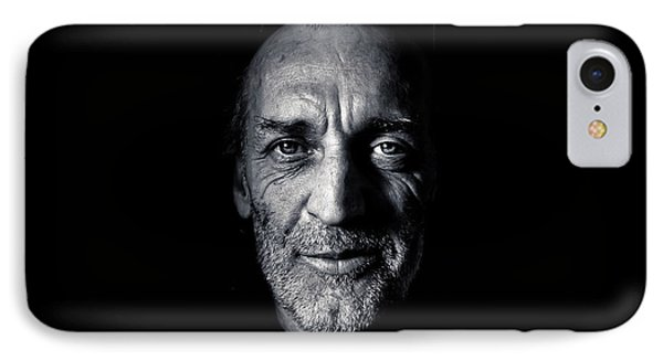 IPhone Case featuring the photograph Morning Self Portrait In Black And White by Brian Carson