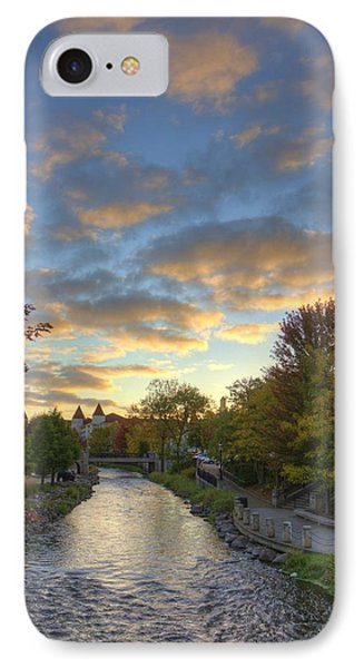 Morning Sky On The Fox River IPhone Case by Daniel Sheldon