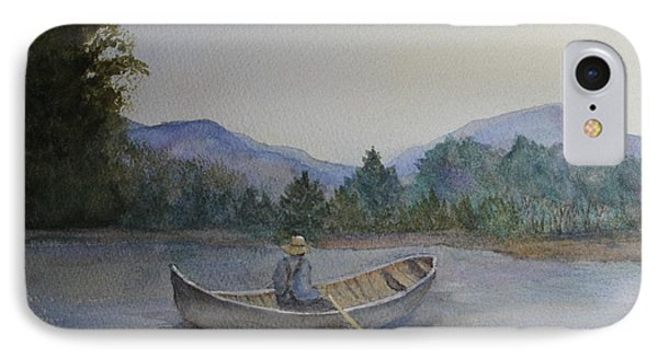 IPhone Case featuring the painting Morning Stillness by Jan Cipolla