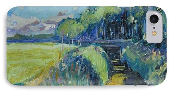 Morning Summer Light Over The Donge River IPhone Case by Nop Briex