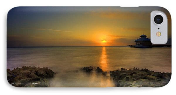 Morning Sun Rising In The Grand Caymans Phone Case by Dan Friend