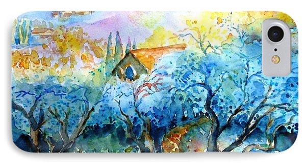 Morning Sunrise In A Tuscan Olive Grove Phone Case by Trudi Doyle