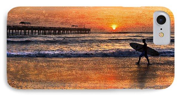 Morning Surf Phone Case by Debra and Dave Vanderlaan