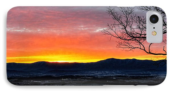 IPhone Case featuring the photograph Morning Tangerine Glow by Lara Ellis