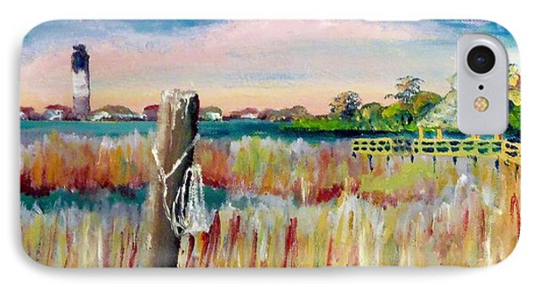Morning View In South Port Looking At Oak Island IPhone Case by Jim Phillips