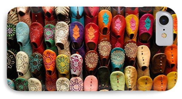 Moroccan Babouches Old Medina Marrakesh Morocco Phone Case by Ralph A  Ledergerber-Photography
