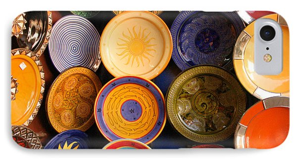 Moroccan Pottery On Display For Sale Phone Case by Ralph A  Ledergerber-Photography