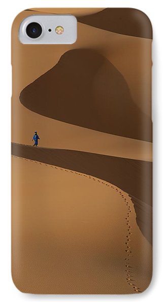 Morocco, Berber Blue Man Walking IPhone Case