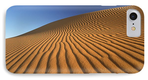 Morocco, Detail Of Sand Dune At Dawn IPhone Case
