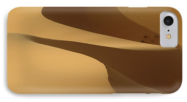Morocco, Detail Of Sand Dunes At Dawn IPhone Case