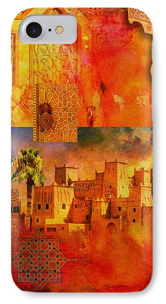 Morocco Heritage Poster 00 Phone Case by Catf