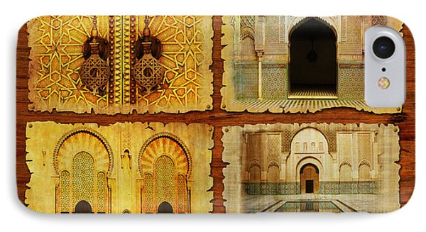Morocco Heritage Poster 01 IPhone Case by Catf