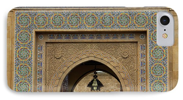 Morocco, Rabat Ornate Gate Of Royal IPhone Case by Kymri Wilt