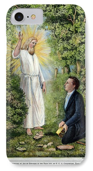 Moroni And Joseph Smith IPhone Case by Granger