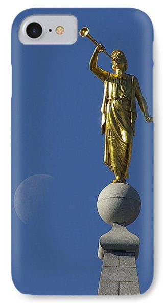 Moroni And The Moon IPhone Case by David Andersen