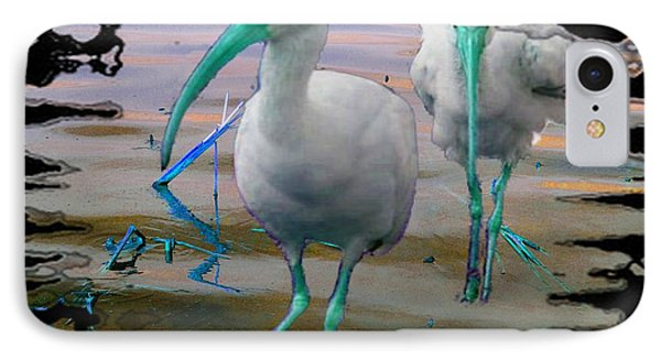 IPhone Case featuring the photograph Morphed Ibis by Irma BACKELANT GALLERIES