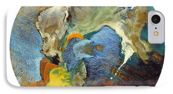 Morphogenesis Of The Blue Wave Particle IPhone Case by Carolyn Goodridge