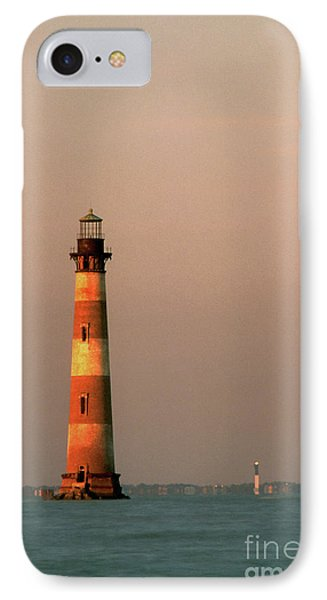 Morris Island  And Sulivan Island Lighthouses  Phone Case by John Harmon
