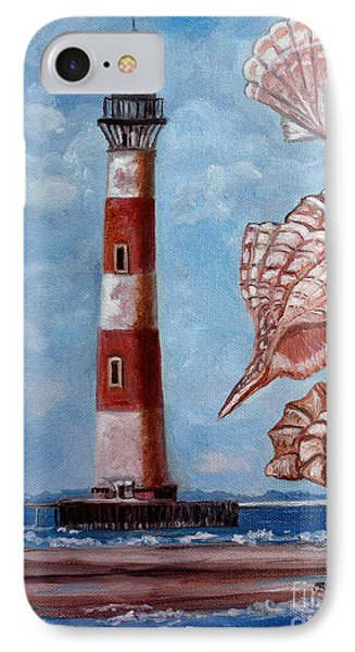 Morris Island Lighthouse Phone Case by Julie Brugh Riffey
