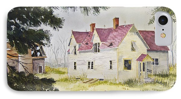 IPhone Case featuring the painting Morristown Farmhouse by Susan Crossman Buscho
