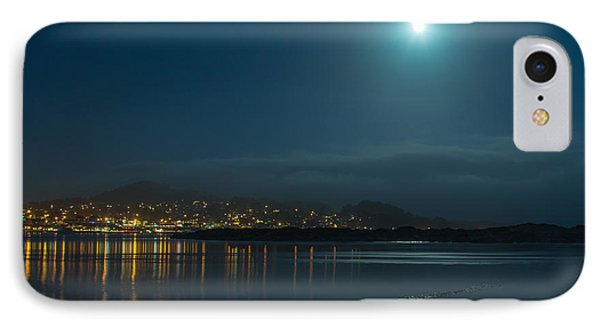 Morro Bay At Night IPhone Case by Terry Garvin