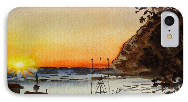 Morro Bay - California Sketchbook Project Phone Case by Irina Sztukowski