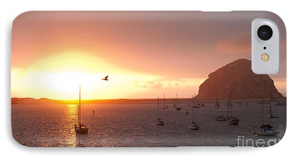 Morro Bay Rock At Sunset Phone Case by Artist and Photographer Laura Wrede