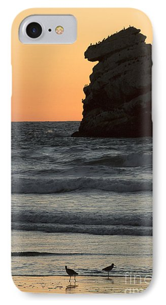 Morro Beach Sunset IPhone Case by Terry Garvin